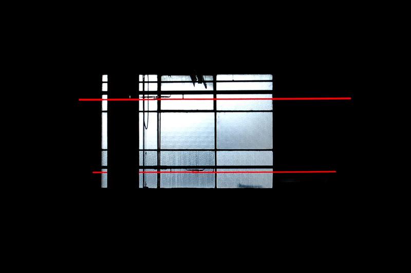paris palais de t, inside, neon lines