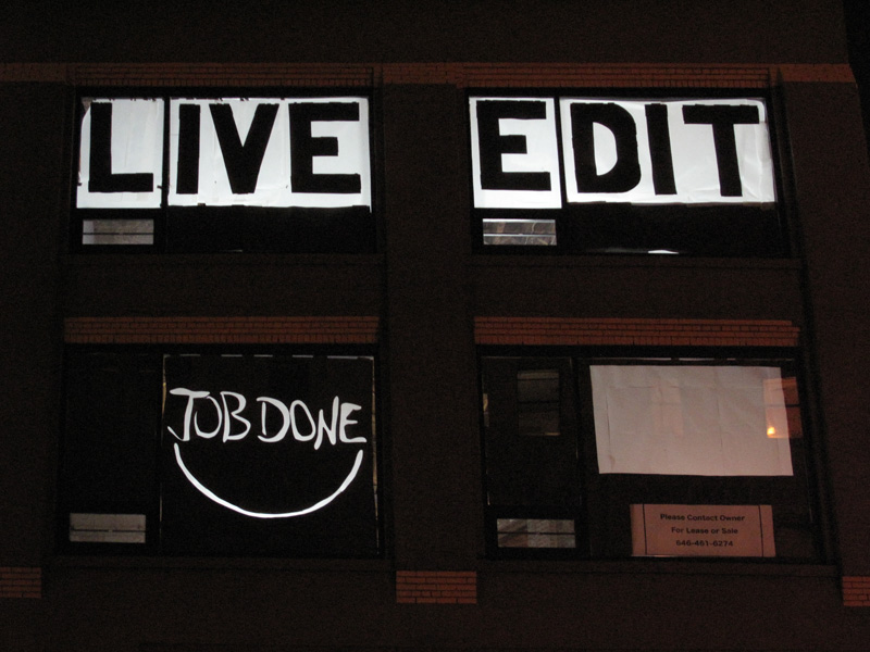 live edit job done